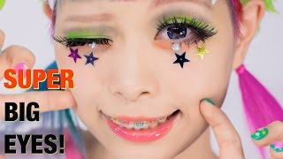Video SUPER BIG EYES makeup TUTORIAL Lashes & Hairstyle by Kurebayashi Japanese Kawaii model | 紅林大空超デカ目メイク MP3, 3GP, MP4, WEBM, AVI, FLV Juni 2018