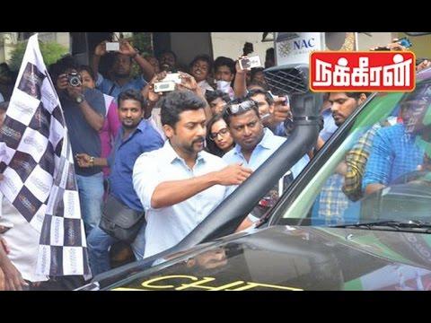 Actor-Surya-flagoff-Chennai-to-Singapore-Audio-drive-6-songs-6-countries