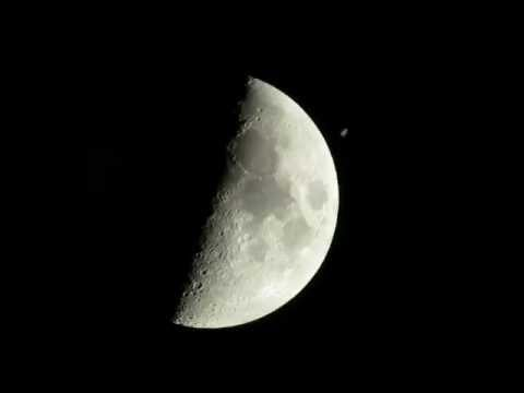 International Space Station crosses The Moon
