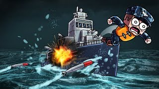 Minecraft | NUKE WARS - Secret Battleship! (Nuclear Missile Launch Station)