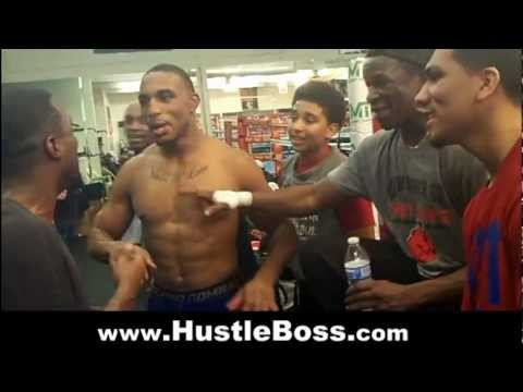 Having fun and talking trash with Floyd Sr. and others at the Mayweather Boxing Club [April 2013]
