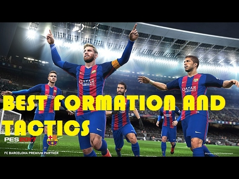 Pro Evolution Soccer 2017 Best Formation And Tactics - For All Teams