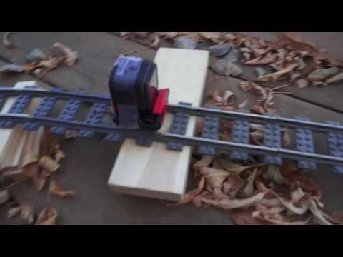 Leaf Blower Powered Lego Roller Coaster