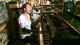 AMANDA PALMER at home performing