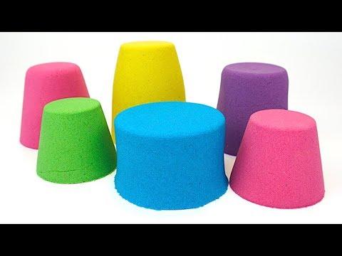 Сюрпризы и игрушки для детей в кинетическом песке - DomaVideo.Ru