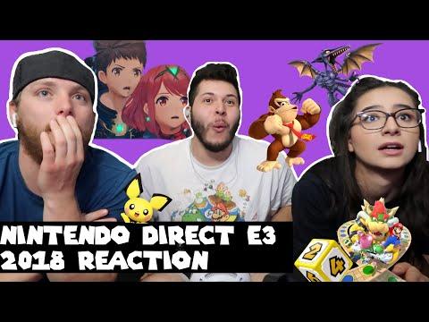 Nintendo Direct E3 2018 REACTION!! RIDLEY IN SMASH!! EPIC REACTION