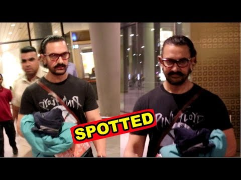 Aamir Khan Spotted At Mumbai Airport