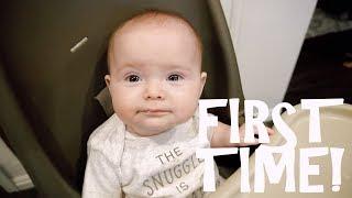 Video Baby's FIRST TIME Eating Food! MP3, 3GP, MP4, WEBM, AVI, FLV Januari 2018