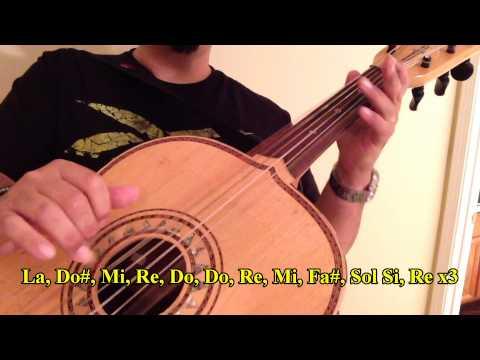 """Como Tocar Guitarron """"El Son de La Negra"""""""