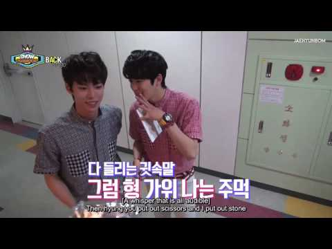 [Eng Sub] 150530 Show Champion Backstage - JAEHYUN & DOYOUNG