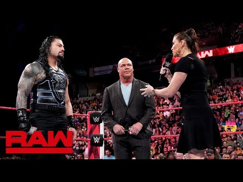 Stephanie McMahon addresses the Roman Reigns situation: Raw, May 21, 2018_Sport videók