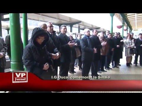 I.G.Duca, comemorat la Sinaia