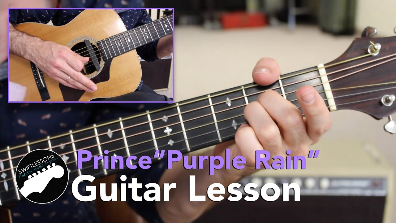 "Easy Guitar Songs   Prince ""Purple Rain"" Rhythm Guitar Lesson (No ADS!)"
