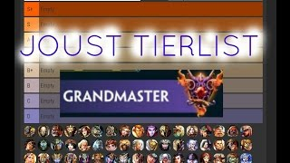 Heres our updated ranked joust tierlist once we got in Grandmasters as promised, lots of changes from last time actually so hope you guys enjoy and feel free to ...