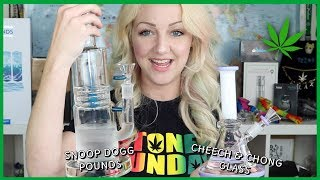 SNOOP DOGG POUNDS & CHEECH AND CHONG GLASS?!   Stoney Sunday glass review   CoralReefer w/ VapeWorld by Coral Reefer