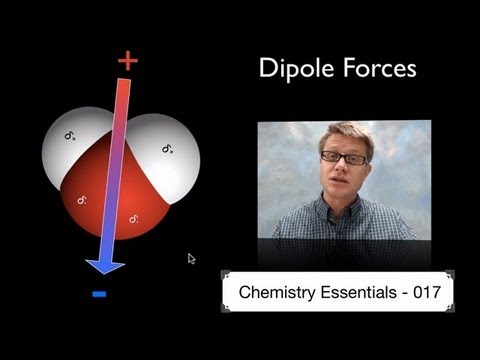 Forces - 017 - Dipole Forces In this video Paul Andersen describes the intermolecular forces associated with dipoles. A dipole is a molecule that has split charge. Di...