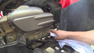 9. 2006 Honda Foreman oil and filter change