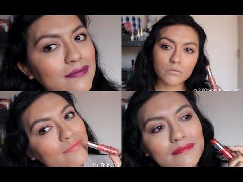 Jordana modern matte lipstick (swacthes+demo)