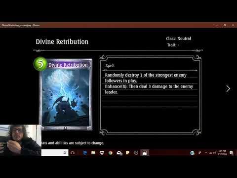 Exclusive Shadowverse Dawnbreak, Nightedge Card Reveal: Divine Retribution! (видео)