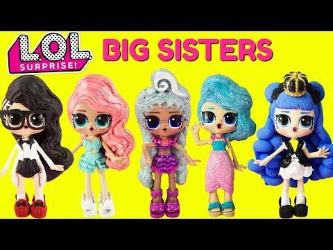LOL SURPRISE BIG SISTER COMPILATION Black Tie, Treasure, Precious, Splash Queen, Midnight