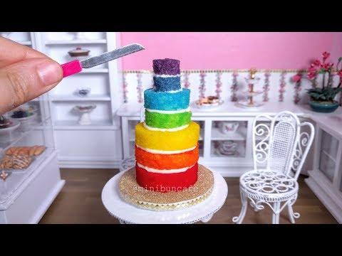 [FAST EDIT] Mini Rainbow cake!