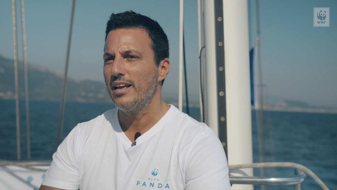 WWF's Blue Panda boat sailed to the Ionian islands which are threatened by oil concessions