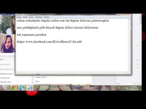 Ask.fm beğeni hilesi 10 mayıs 2013 (kanıtlı)