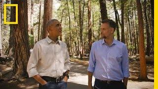 Obama touring Yosemite, seeing God's country