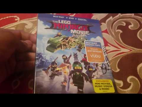 The Lego Ninjago Movie Blu Ray Unboxing