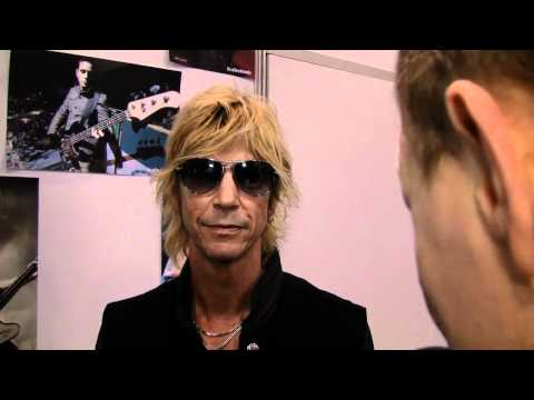 Duff McKagan tells reminisces about 2011 at the TC Electronic booth at NAMM 2012.