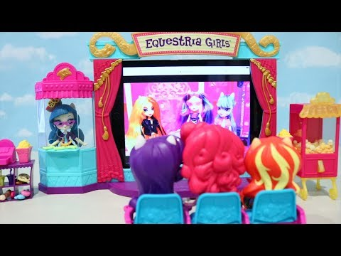 Equestria Girls Movie Theater ! Toys and Dolls Fun Family Playtime With My Little Pony