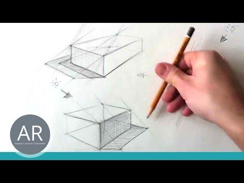 Zeichnen lernen – Konstruktion eines Schlagschattens Teil 1 von 4 – Zeichnen lernen HD