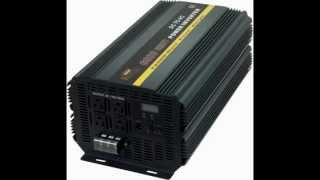What size inverter should I buy? (and Formula to convert Amps to Watts)We carry many different sizes, and several brands of power inverters. See our Inverters Page for specifications on each of our models.Short Answer: The size you choose depends on the watts (or amps) of what you want to run (find the power consumption by referring to the specification plate on the appliance or tool). We recommend you buy a larger model than you think you'll need (at least 10% to 20% more than your largest load).