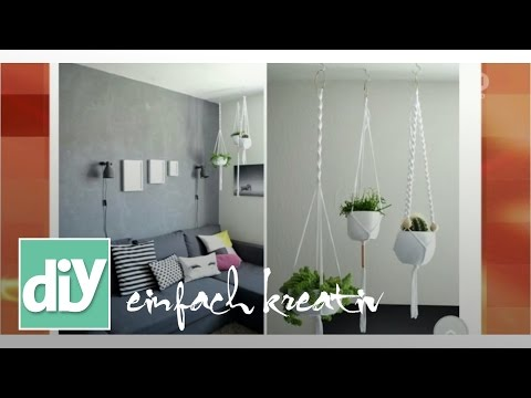 Makramee-Blumenampel   DIY einfach kreativ