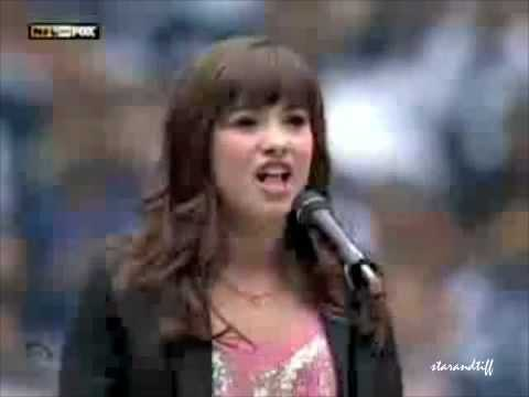Demi Lovato Singing The National Anthem