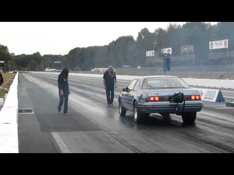Toyota 2JZ powers Ford Thunderbird at the drag strip