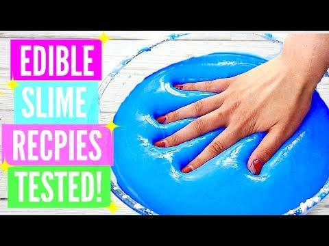 Testing Popular Edible Slime Recipes! How To Make Edible Slime DIY! *please read the description\
