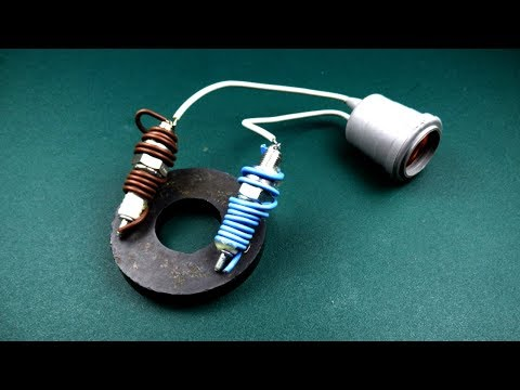 Spark Plug Electric Free Energy device Using Magnet Coil 100% Work, New Technology for 2019