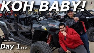 3. KOH arrival! Ripping a RZR Turbo S Velocity, and BACKDOOR!