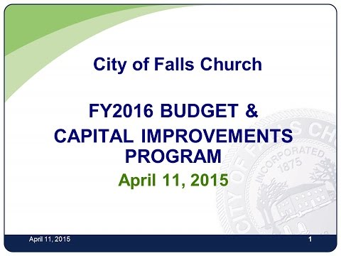 Budget Town Hall Meeting April 11, 2015