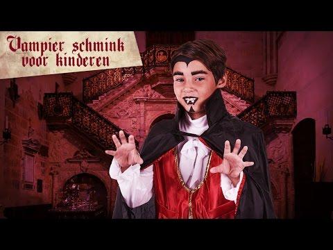 Vampier schmink tutorial voor kinderen