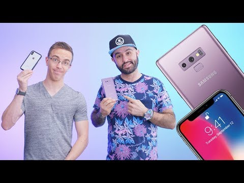 Galaxy Note 9 Vs IPhone X W/ Austin Evans!