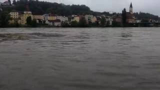 Passau Germany  city pictures gallery : Flooding on the Inn River, Passau, Germany June 1, 2016