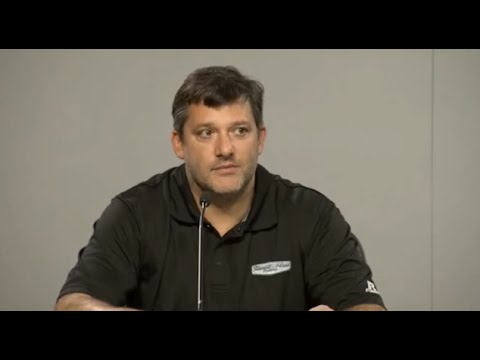 Conference - Tony Stewart, Brett Frood press conference from Atlanta Motor Speedway, Aug 29, 2014. Tony's first public comments since the tragic accident that took the life of Kevin Ward Jr.