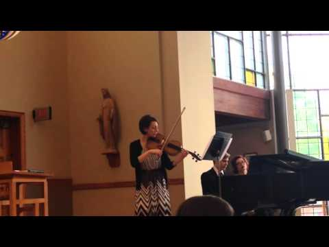 Romanze for Viola and Orchestra by Bruch.  Performed by Elizabeth Deemer.