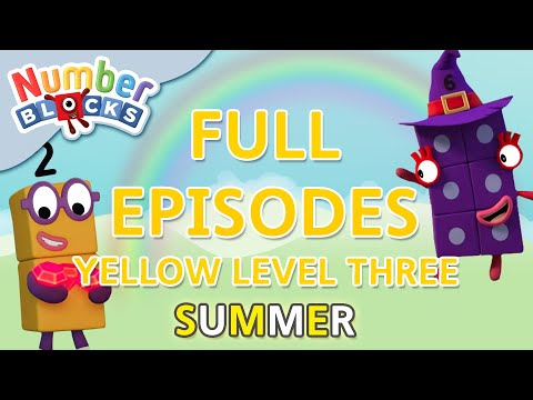 #SummerLearning Numberblocks - Yellow Level Three | Full Episodes 28-30 | Learn to Count #WithMe