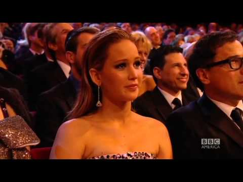 Jennifer Lawrence Kiss At BAFTA 2013 (FullHD)