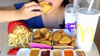 ASMR McDonald's Chicken McNuggets *Eating Sounds*