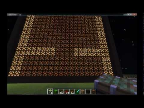 Redstone lamp - An animated screen made in Minecraft with redstone and the new redstone lamp block. I started working on this in version 1.1, but then updated to 1.2.3. It w...