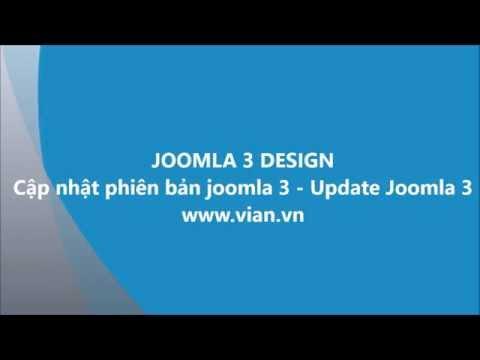 Cập nhật phiên bản joomla 3 - Update Joomla 3.x
